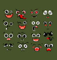 different emotions for round monster character vector image vector image
