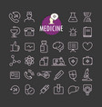 different medicine icons collection web and vector image vector image