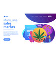 distribution hemp products concept landing page vector image vector image