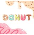 donut font on white background vector image