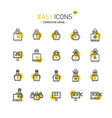easy icons 44d computer crime vector image vector image
