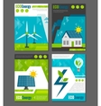 Eco energy icons poster vector image vector image