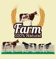 Farm design over beige background vector image vector image