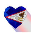 flag of american samoa vector image