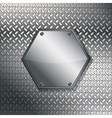Fluted metal texture vector image vector image