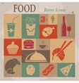 Food Flat Retro Icons vector image vector image
