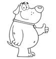 Friendly cartoon dog vector image vector image