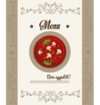 Gastronomy and restaurant menu vector image