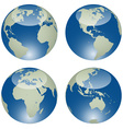 glossy globes vector image vector image