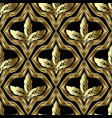 gold baroque 3d seamless pttern textured vector image vector image