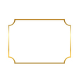 Gold frame Beautiful simple vector image vector image
