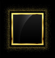 golden glitter empty frame background vector image vector image