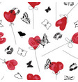 graphic red white and black love symbol pattern vector image