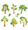 Green trees set vector | Price: 1 Credit (USD $1)