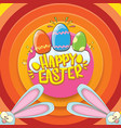 happy easter greeting card wtih bunny vector image