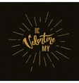 Happy Valentines Day Hand Lettering vector image