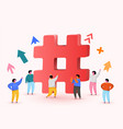 hashtag sign concept for social media vector image