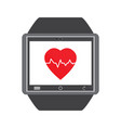 isolated smartwatch icon vector image