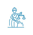 justice system linear icon concept justice system vector image vector image
