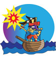 little pirate vector image