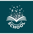 logo from book flying letters vector image