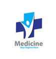 medicine health logo designs vector image vector image