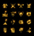 medieval warriors shield and sword icons vector image vector image