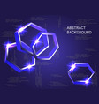 metal polygons sparkle on the background vector image