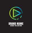 multimedia logo template vector image vector image