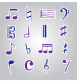 music note stickers icon set eps10 vector image vector image