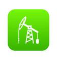 oil rig icon green vector image