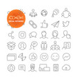 outline icon set web and mobile app thin line vector image