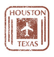postal stamp from texas vector image