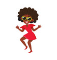 pretty black african american woman dancing at vector image vector image