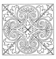 renaissance square panel is found in a cathedral vector image vector image