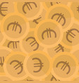 seamless background pattern coins euro vector image