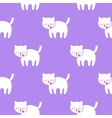 Seamless pattern Kitten on a purple background vector image vector image