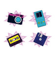 set of 90s elements and technology vector image vector image