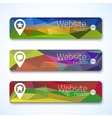 Set of website abstract triangle banners for UI vector image