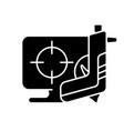 shooter game black glyph icon vector image