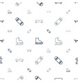 skater icons pattern seamless white background vector image vector image
