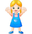 smiling girl cartoon vector image