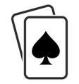 spade gambling cards flat icon vector image vector image