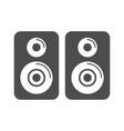 speaker simple icon design vector image