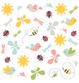 spring pattern seamless background vector image vector image
