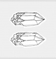 sticker design with image a crystal vector image vector image