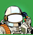 the astronaut is talking on phone empty vector image vector image