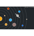 The planets of the solar system in original style vector image vector image