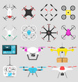vehicle drone quadcopter air vector image vector image