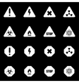 white danger icon set vector image vector image